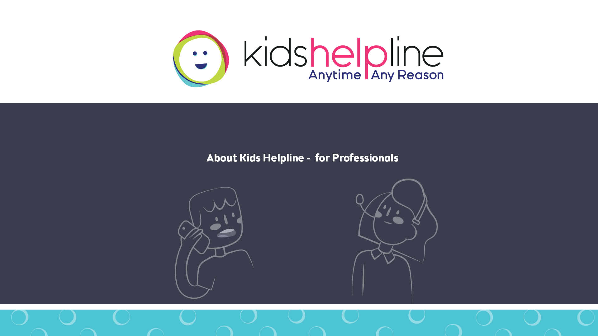 Kids Helpline presentation for professionals