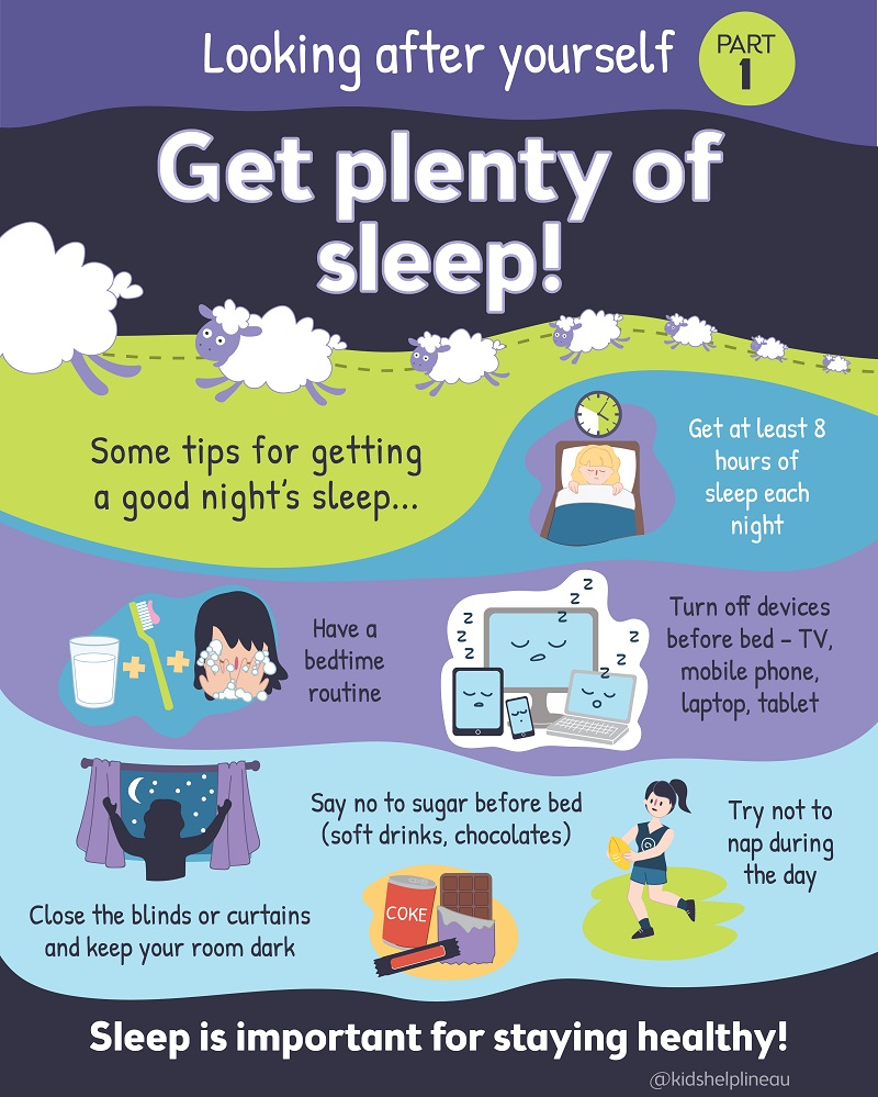 Make sure you get enough quality sleep!