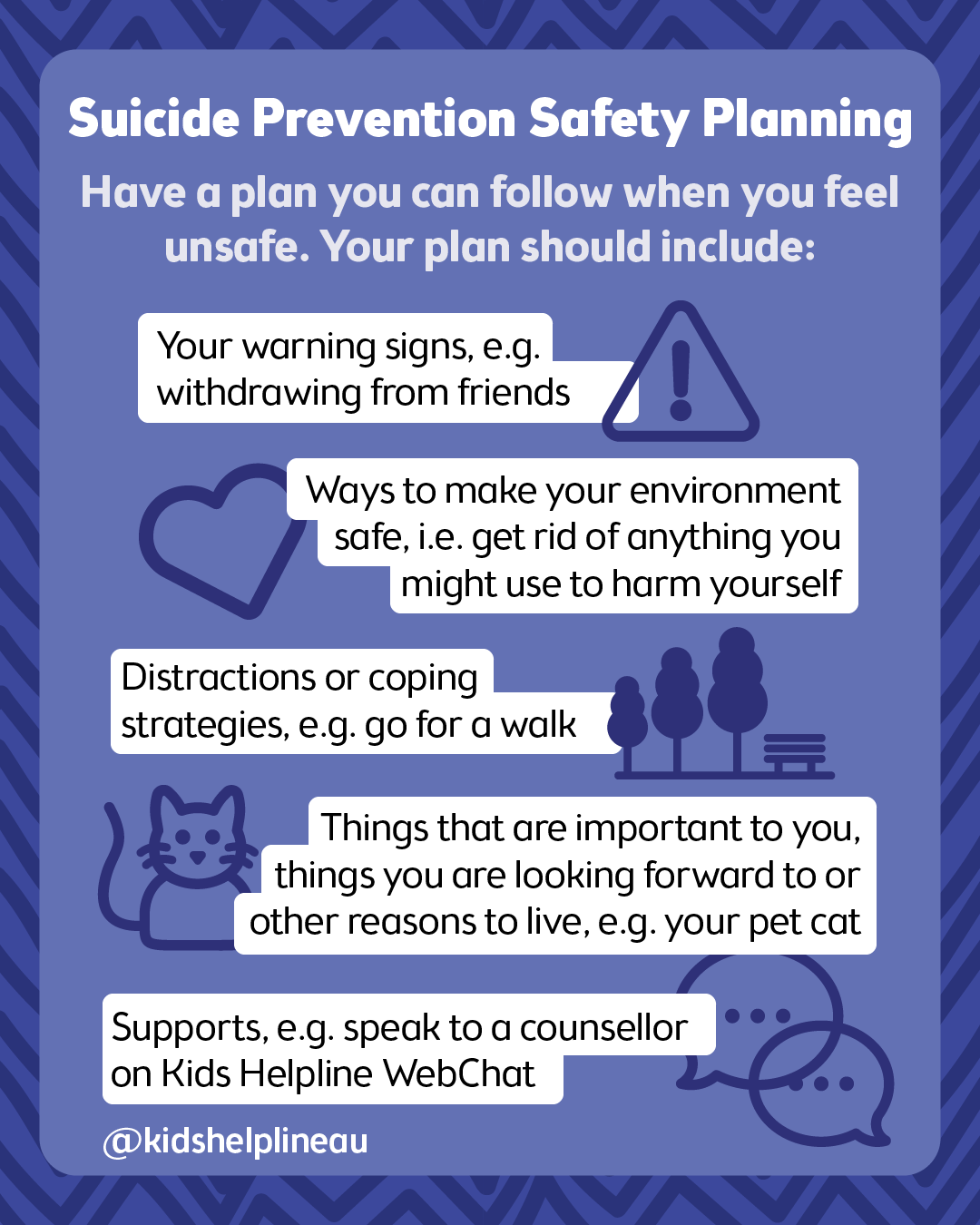 Suicide prevention safety planning