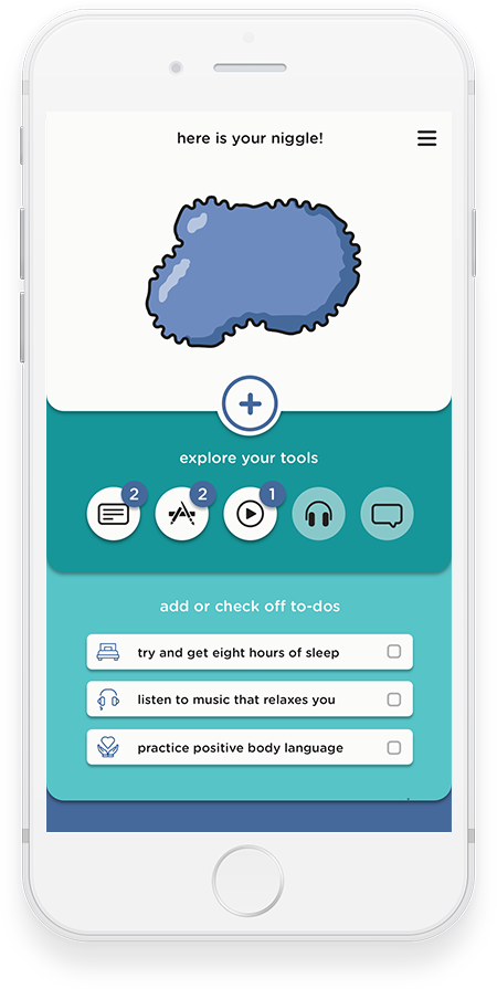 Niggle app screenshot: mental health issues